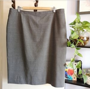 NWT Brooks Brothers Grey pencil Skirt